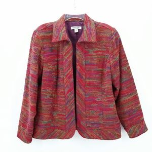 COLDWATER CRK Western Tapestry Open Front Jacket